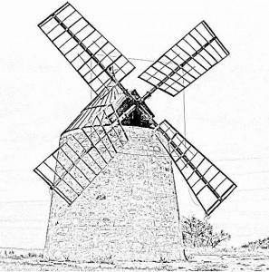 au pays de la Mancha (t'as pas une piècette, on n'a pas augmenté les impôts, on nékonomize, on fait la mancha - traduction approximative) dans Actualité moulin-de-nissan-297x300